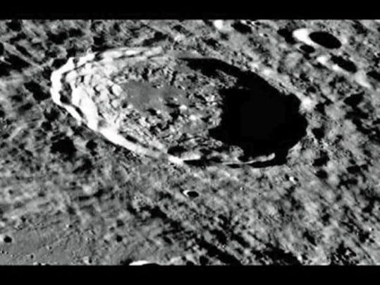 Kirkwood Crater on the moon. (NASA photo)