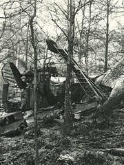 The plane made it back from its bombing raid on Germany but crashed in a wooded area near the English coast.