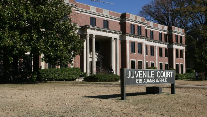 December 5, 2016 -Juvenile Court of Memphis and Shelby County is located at 616 Adams Avenue. (photo by Dave Darnell)