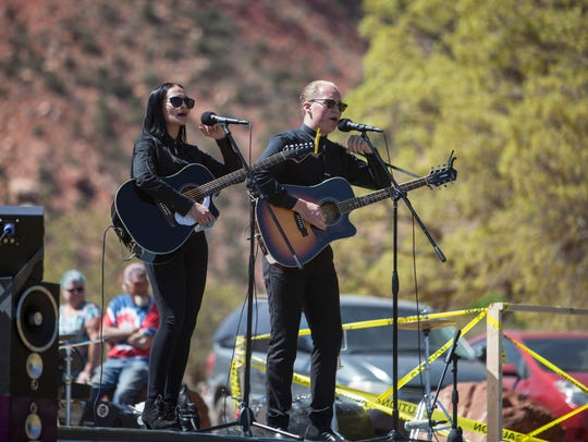 Fans and performers gather at the Colorado City Music