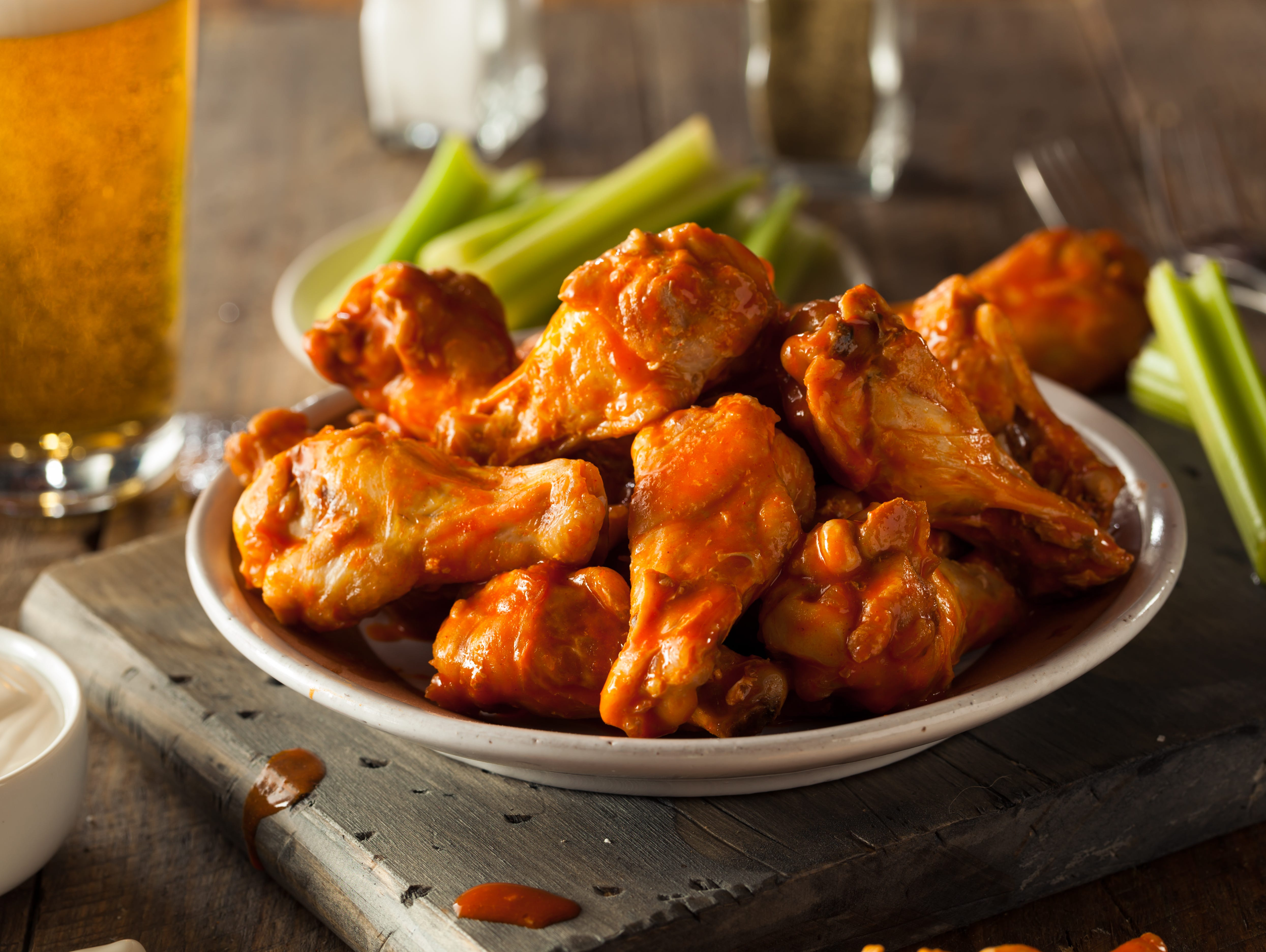 Enjoy a FREE snack size wings or save $5.00 OFF any order of $25 or more.