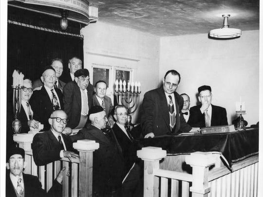 Rabbi Abraham Danzig of Tucson dedicates the Beth Hebrew