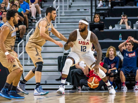 Basketball: USA Basketball Exhibition Game-Argentina at USA