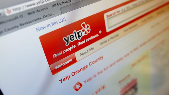 Consumer review sites, including Yelp, are frequently