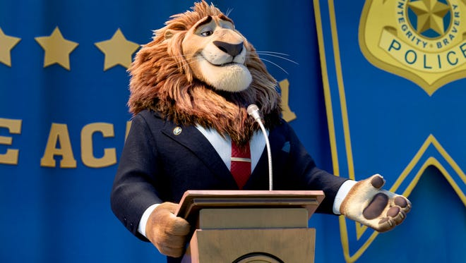 "Oscar winner J.K. Simmons ('Whiplash') voices Mayor Leodore Lionheart, the noble leader of 'Zootopia,' who coined the city's mantra: ""In Zootopia, anyone can be anything."""