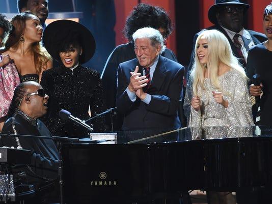 Stevie Wonder, Tony Bennett, Lady Gaga, Jennifer Hudson, Janelle Monae