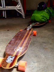 James McGary is sponsored by McCollum Longboards, a