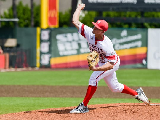 UL starter Evan Guillory went 7.0 innings in a win over ULM on Saturday that clinched the No. 1 seed for the Cajuns in the upcoming Sun Belt tourney.