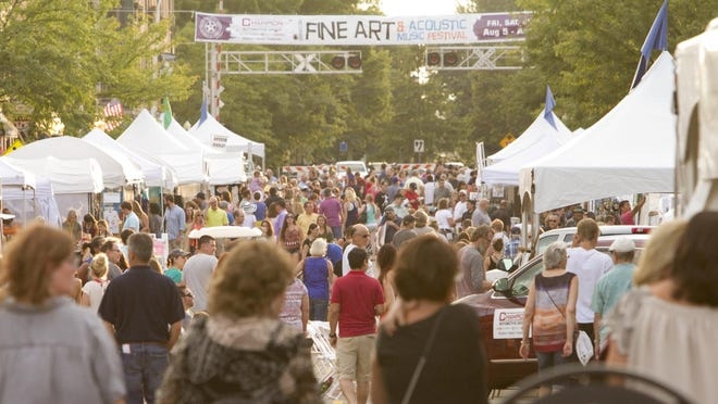 The 35th Annual Brighton Fine Art & Acoustic Music Festival will be on Friday, Saturday and Sunday, Aug. 3-5, in downtown Brighton.