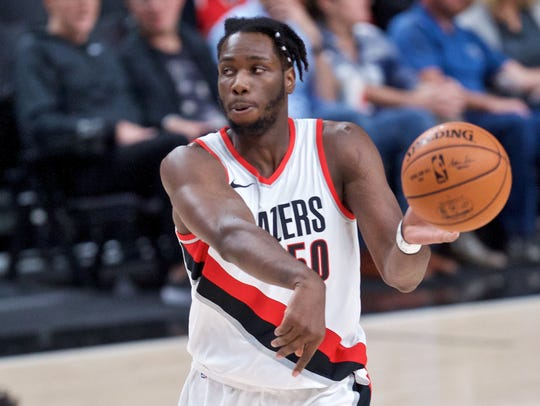 Portland Trail Blazers forward Caleb Swanigan