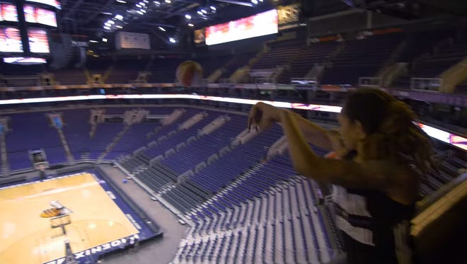 Brittney Griner made a shot from the upper deck.
