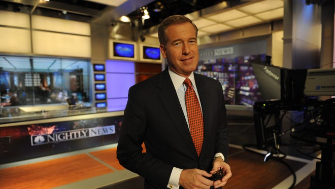 Brian Williams on the set in 2013.