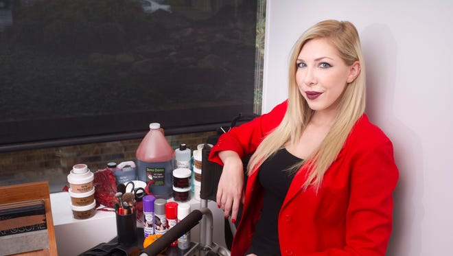 Hairstylist and makeup artist Krista Segars is pictured Oct. 21, 2016, at Sola Salons, 4928 Homberg Drive. Segars does special effects and horror makeup for television and film productions.