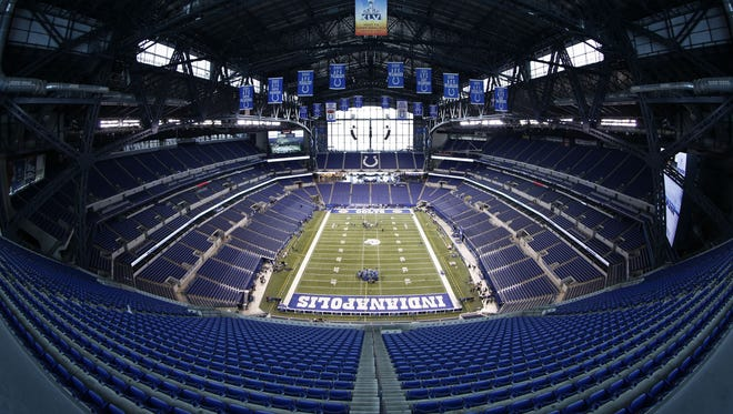 Lucas Oil Stadium is the site of the NFL Combine