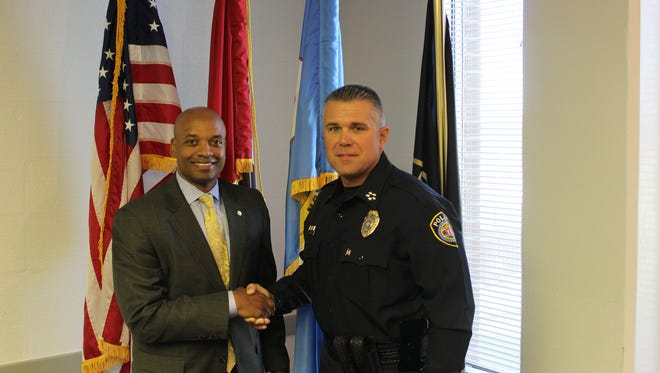 Capt. Tyreece Miller was promoted to Deputy Chief of Police Friday by Jackson Police Chief Julian Wiser.