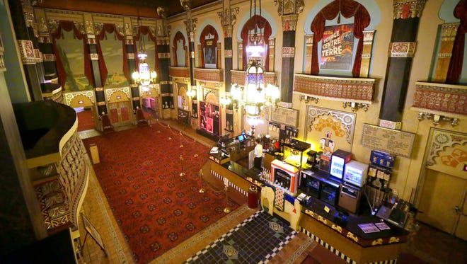 The main lobby area of the Oriental Theatre at 2230 N. Farwell Ave. in Milwaukee.