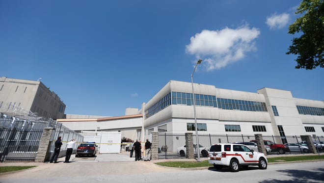 The scene at the Greene County Jail on Thursday, May 24, 2018.