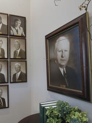 Photos of the first borad members of the Christy Houston