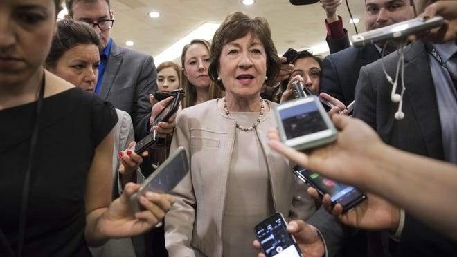 Sen. Susan Collins of Maine said President Donald Trump's threat to cut off required payments to insurers under the Affordable Care Act would not change her opposition to the GOP health bill.