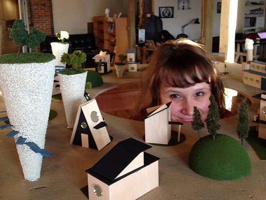 Tony Youngblood's modular art pods.