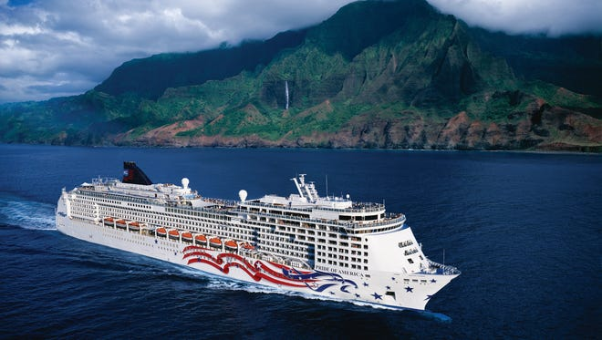 The British flag isn't the only flag that adorns a cruise ship. Norwegian Cruise Line's U.S.-flagged, Hawaii-based Pride of America has a stylized stars-and-stripes across its hull.