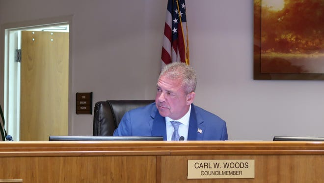 Carl Woods presided over his first council meeting as Palm Beach Gardens' new mayor Thursday night. The retired Palm Beach Gardens police officer is entering his fifth year on the council.