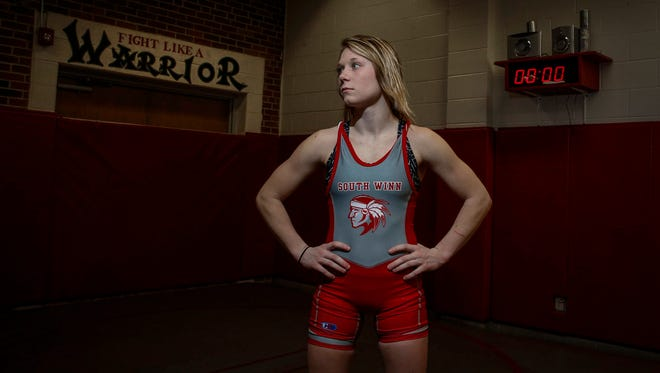South Winneshiek junior Felicity Taylor began wrestling as a freshman, and despite the late start she has quickly climbed her way up to the upper level wrestlers in the 106-pound weight class.