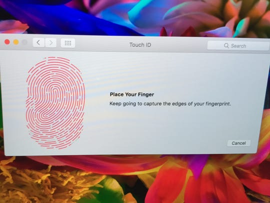You can use your fingerprint to unlock the Mac or pay