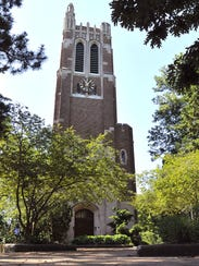 Beaumont Tower on the Michigan State University campus.