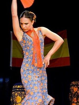 Belen Almaguer performs the flamenco.