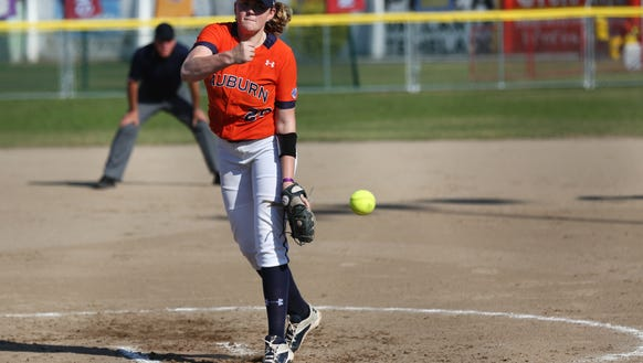 Auburn pitcher Makayla Martin is currently 2-1 with