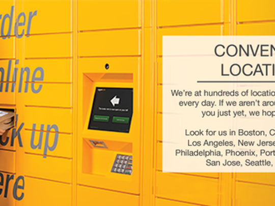 Amazon Lockers are secure, self-service kiosks where you can pick up Amazon.com packages at a time and place that is convenient for you.