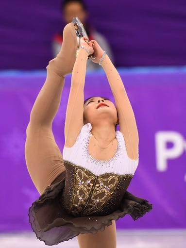 Hanul Kim from Koria performs in the ladies figure