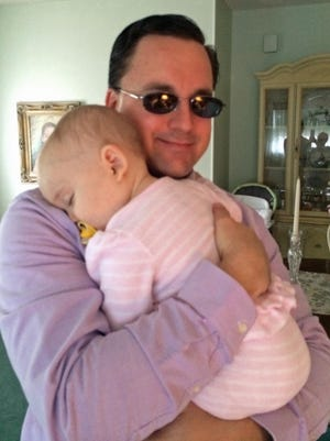 Sometimes, Isabella doesn't want me to let go when I drop her off with grandparents before work.