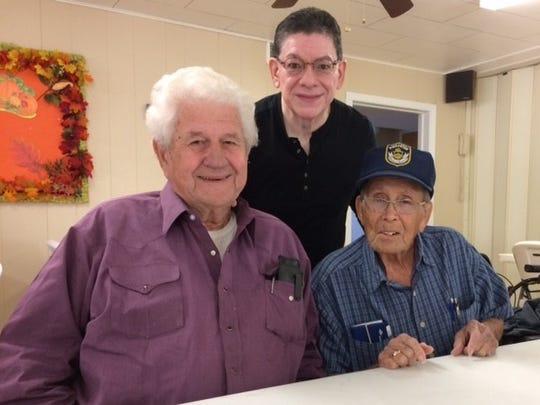 Jack Staples, Paul Matta and Felix Villalvos meet at a recent prayer meeting and lunch at Second Baptist Church in Abilene.