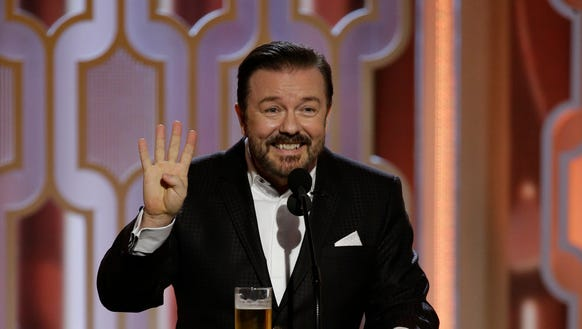 Ricky Gervais' jokes weren't any gentler the fourth