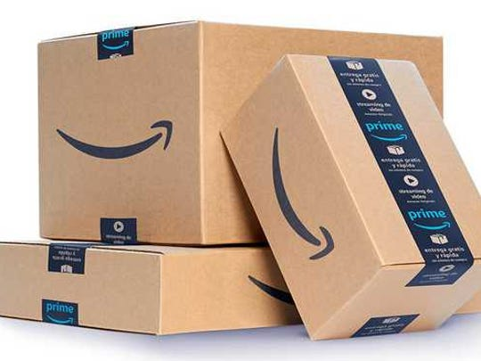 A stack of Amazon Prime boxes.