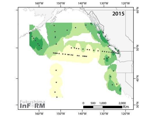 137 Cesium Activity in 2015.