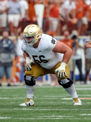 Notre Dame Fighting Irish offensive lineman Quenton Nelson is considered the best offensive line draft prospect this year.