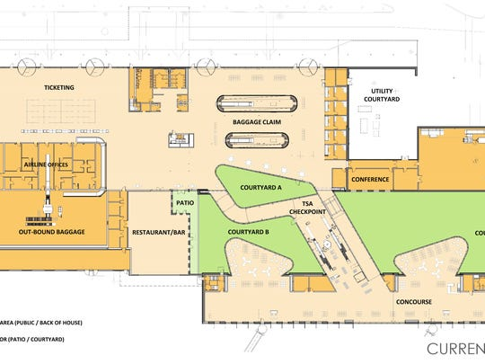 This is the design layout for a renovated terminal