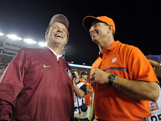 Florida State's Jimbo Fisher and Clemson's Dabo Swinney