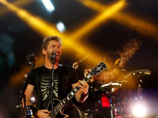 Nickelback performs Friday, Aug. 11, 2017, on the Grandstand