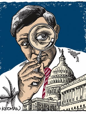 Illustration of a congress government investigation.