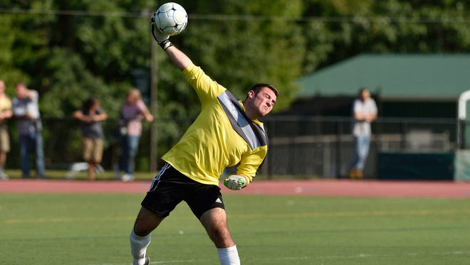 Pascack Valley goalie Josh Ulin throws the ball during the game against NV/Old Tappan in Hillsdale.