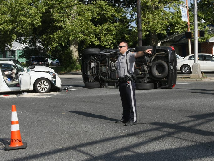 Two car collision in freehold township for Freehold motor vehicle agency