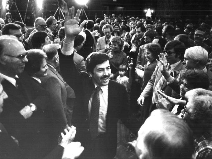 Governor Terry Branstad on election night in 1982.