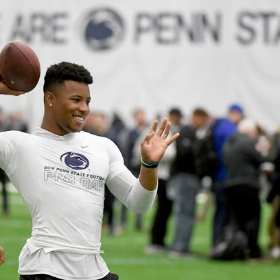 A new baby, a new life: Saquon Barkley shines off the field on Penn State 'Pro Day'