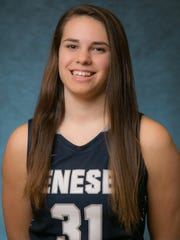 Savannah Williams of Norwich, Chenango County, was a freshman on the Geneseo basketball team. She died in a car accident on Dec. 20 in Geneseo.