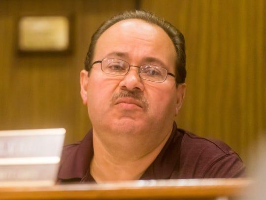 Buena Borough Councilman Jorge Alvarez speaks Wednesday