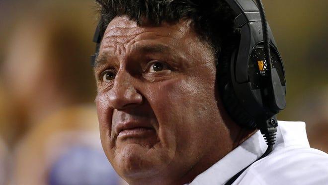 LSU interim coach Ed Orgeron